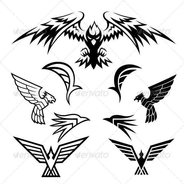 GraphicRiver Bird Symbols 5072085