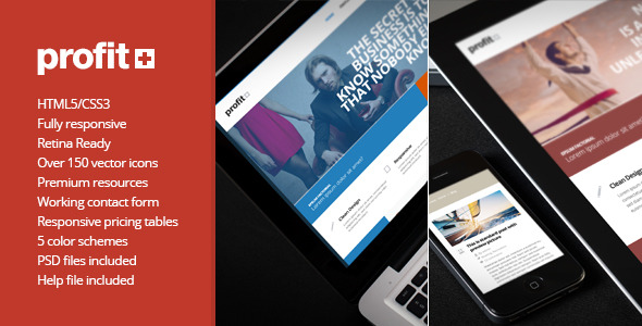 Profit+ Responsive Multipurpose HTML5 Template