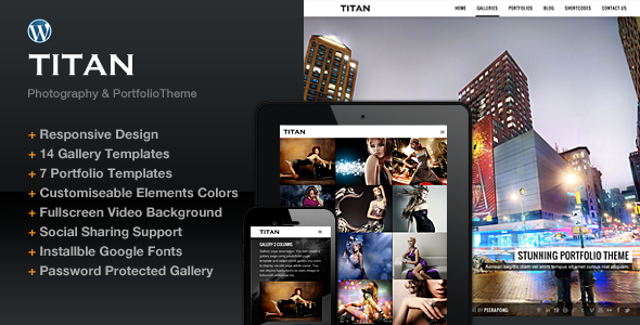 ThemeForest Titan Responsive Portfolio Photography Theme 5072056