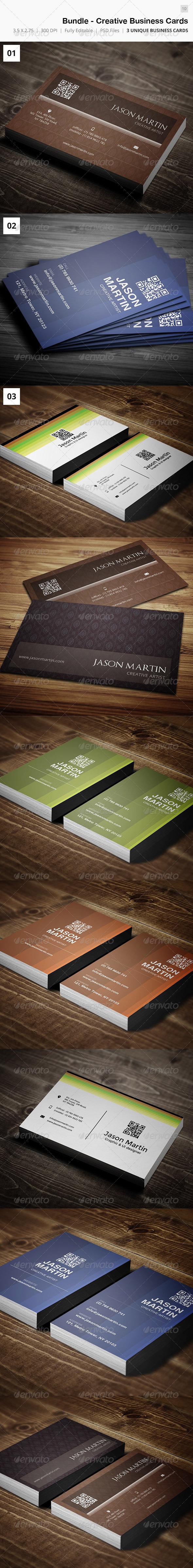 Bundle - Creative Business Card - 10 - Creative Business Cards