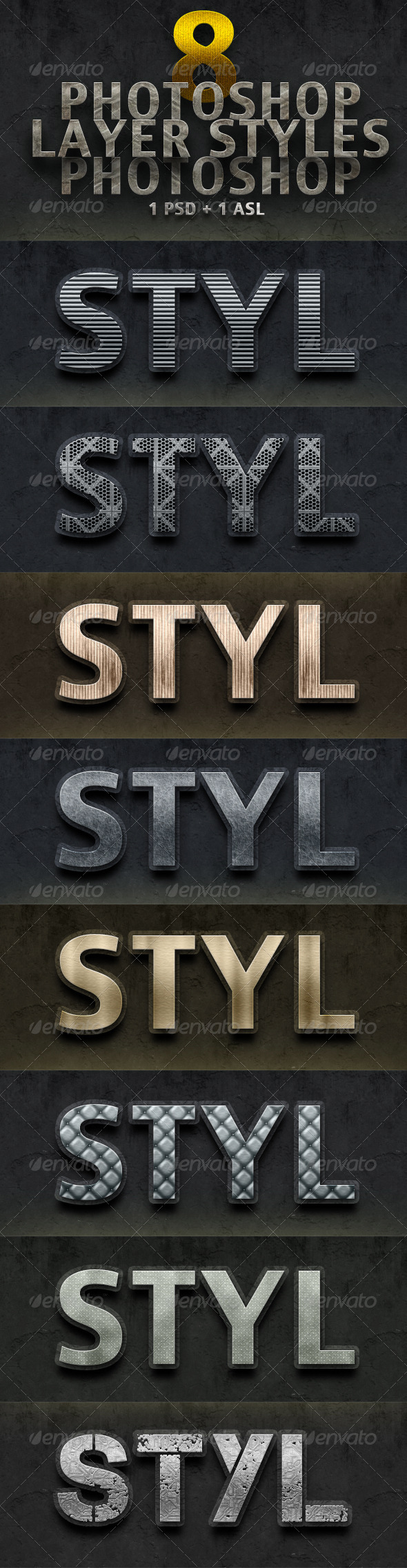 GraphicRiver 8 Photoshop Layer Styles 5072276
