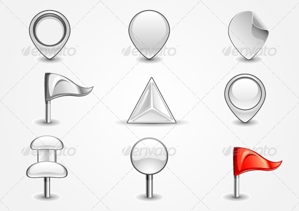 GraphicRiver White Navigation Icons 5072373