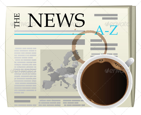 GraphicRiver Newspaper and Coffee Cup 5072376