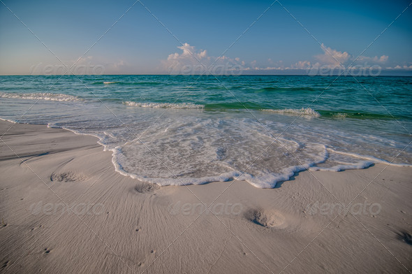 beach and tropical sea scene at gulf of mexico, florida side