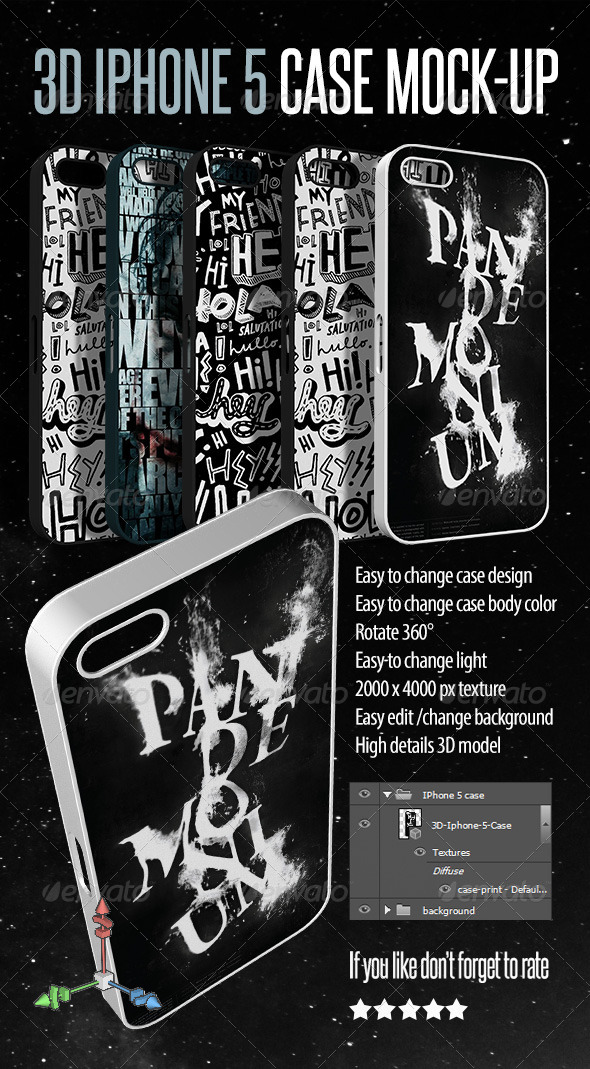 GraphicRiver 3D Phone Case Mock-up 5072724