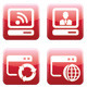 Red Web Icon Set