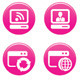 Glossy Pink Web Icon Set - GraphicRiver Item for Sale