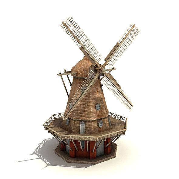 3DOcean Big Copenhagen Windmill 5072971