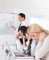 Frustrated Employees In Business Meeting