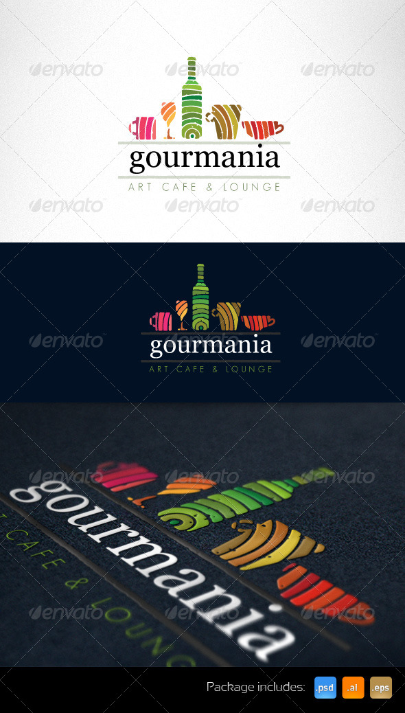 Art Cafe and Restaurant Creative Logo Template - Food Logo Templates