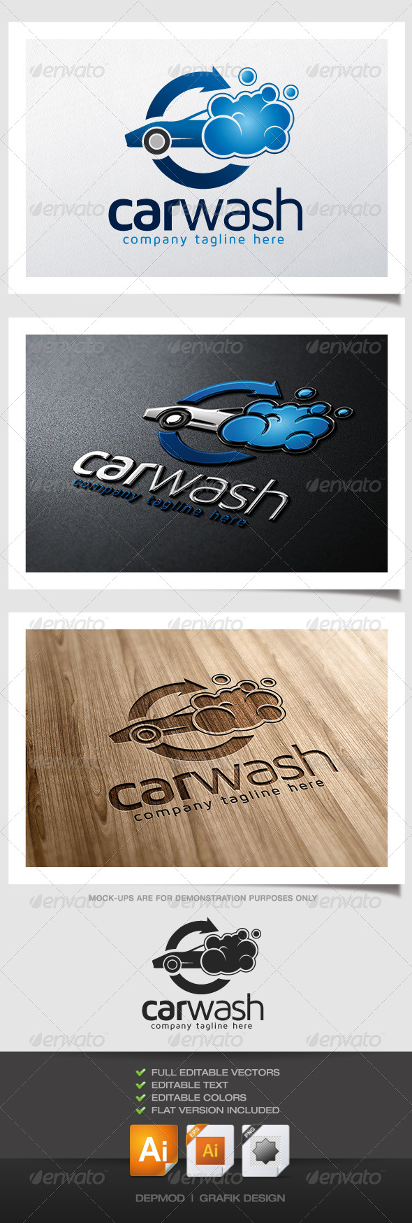 GraphicRiver Car Wash Logo 5073159