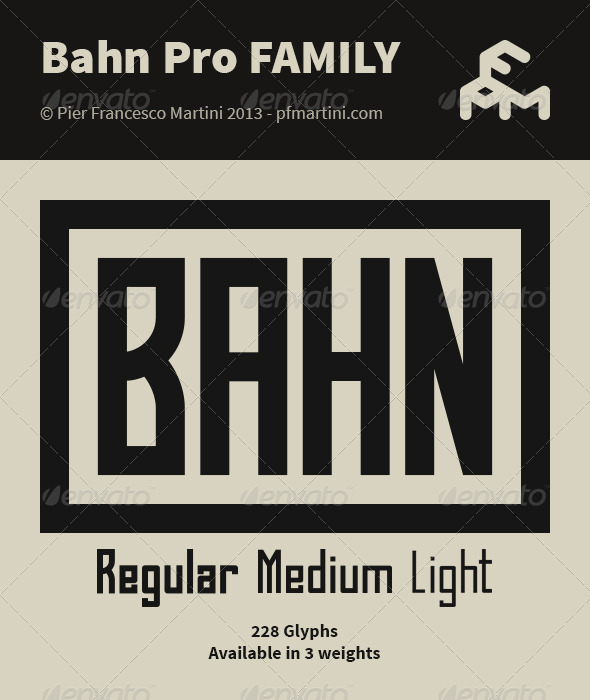 GraphicRiver Bahn Pro Family 5037127