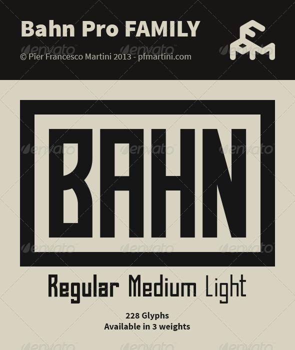GraphicRiver Bahn Pro Family 5037127