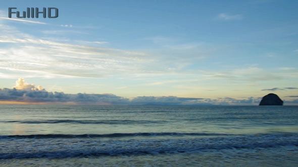 Sunrise On Caribbean Island