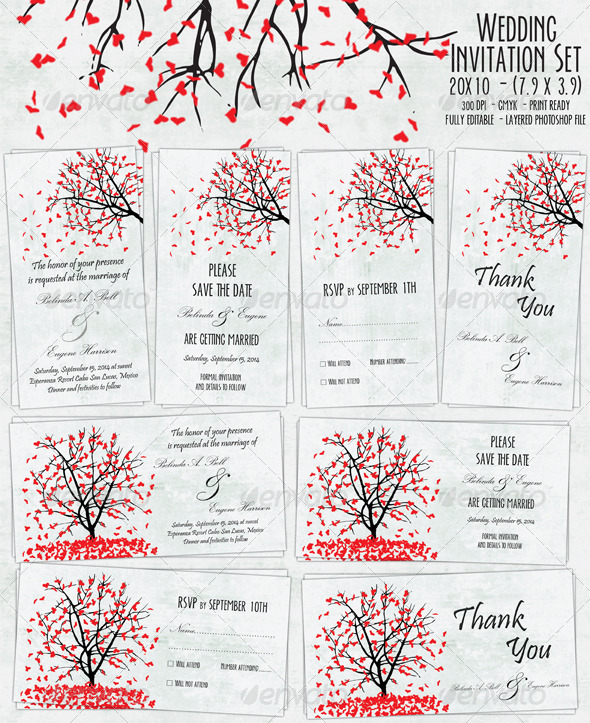 GraphicRiver Wedding Invitation Set 01 5073454