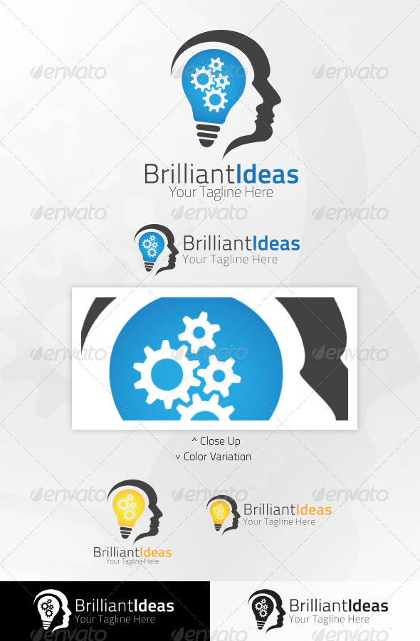 GraphicRiver Brilliant Ideas Logo Template 5061074