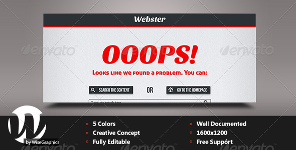 GraphicRiver Webster Creative 404 Page 5073885