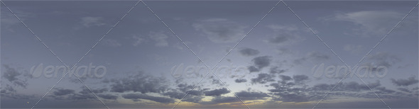 3DOcean Skydome HDRI Midnight Sun 5074004