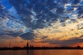 A beautiful sunrise over the Neva River, Saint-Petersburg, Russi - PhotoDune Item for Sale