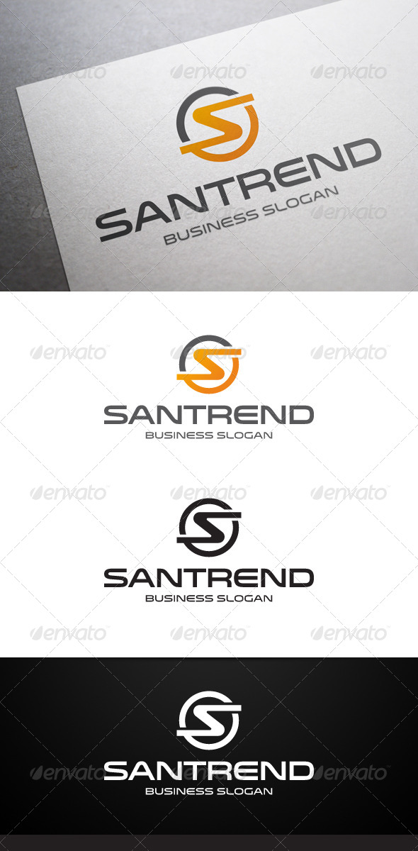 Santrend S Letter Logo