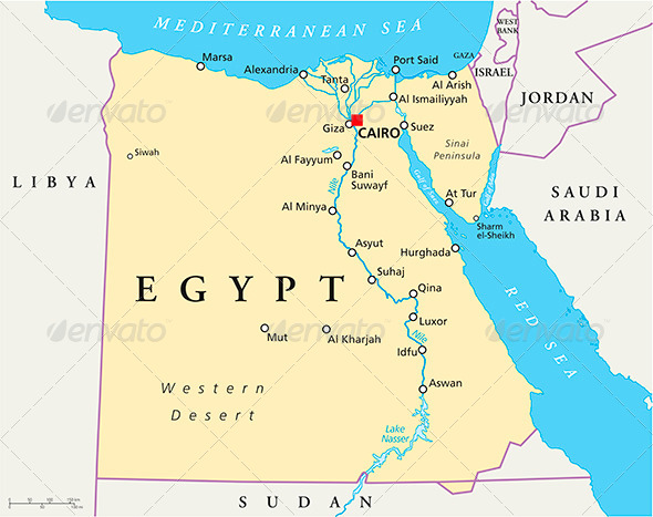 GraphicRiver Map Of Egypt 5074590
