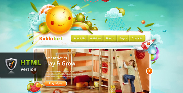 ThemeForest KiddoTurf Kids HTML Theme 5074595