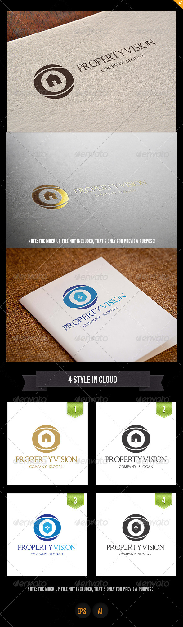 GraphicRiver Property Vision Logo 5074630