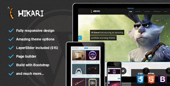 ThemeForest Hikari Premium Portfolio and Blog Theme 5023869