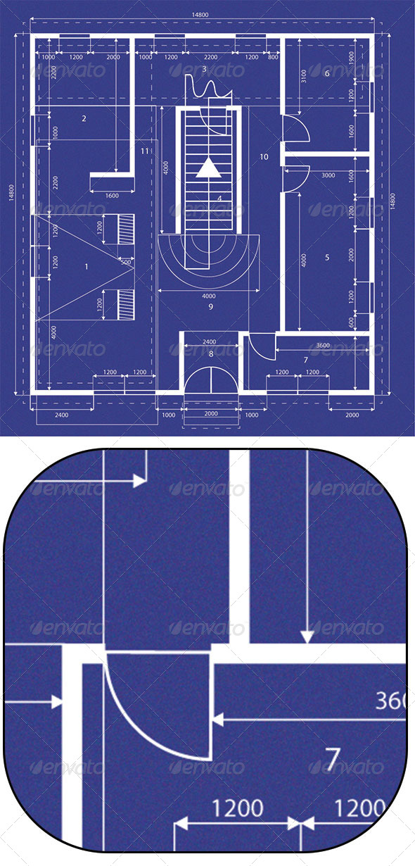 GraphicRiver Blueprint of House 5074993