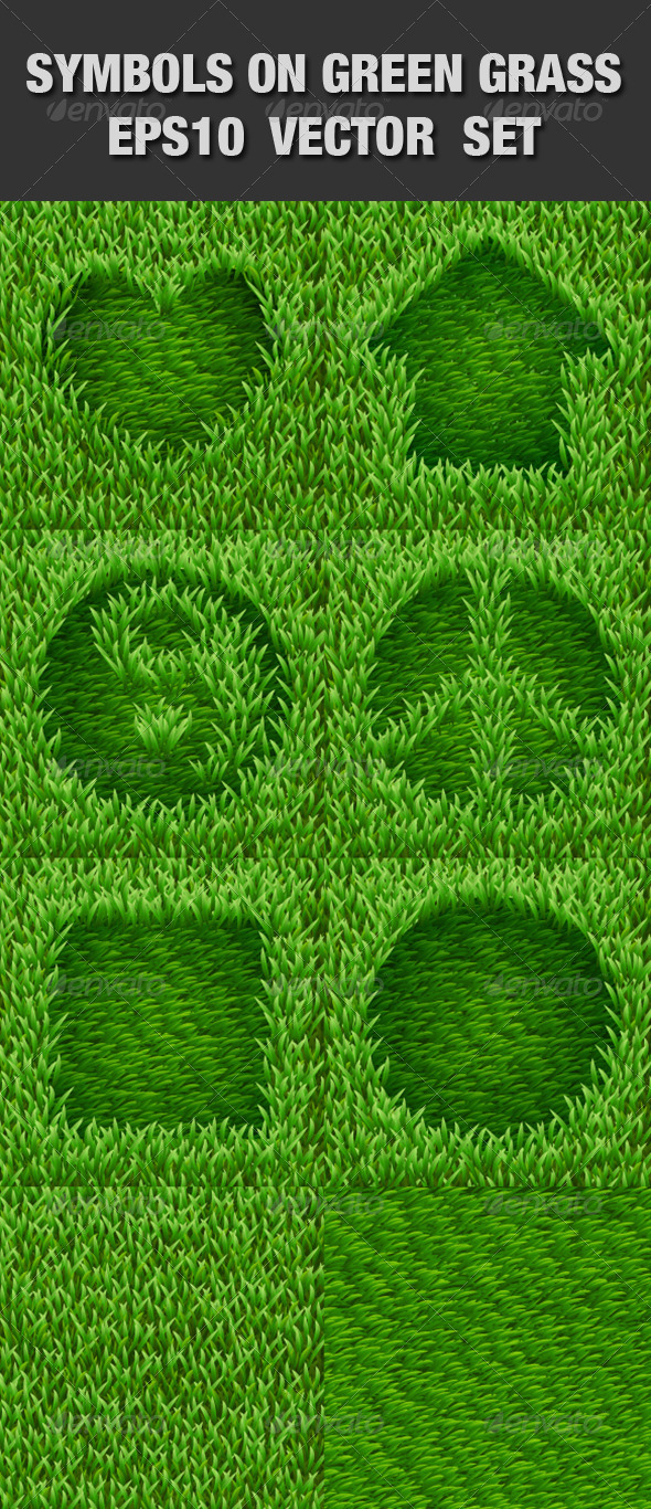 GraphicRiver Symbols on Green Grass Set 5074999