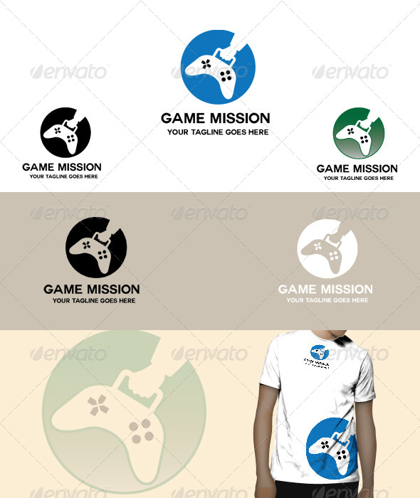 GraphicRiver Game Mission Logo 5075046