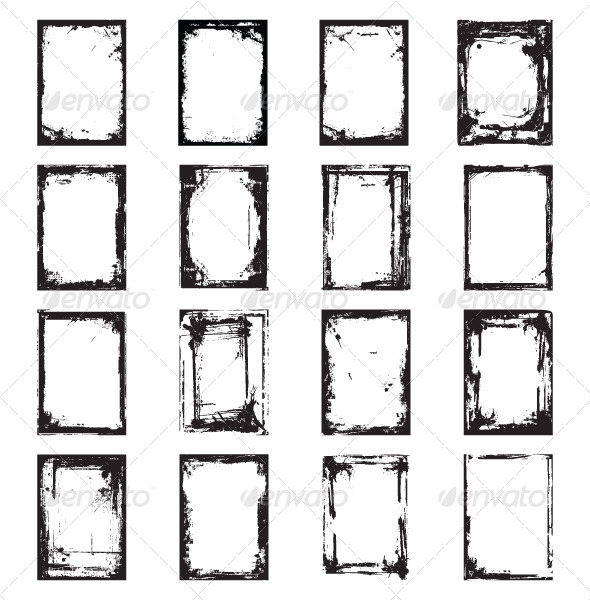 GraphicRiver Grunge Frame 5075048