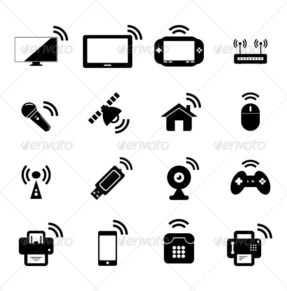 GraphicRiver Wireless Technology Icon 5075096