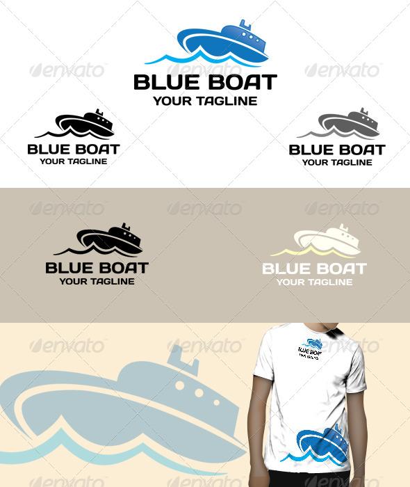 GraphicRiver Blue Boat logo 5075271