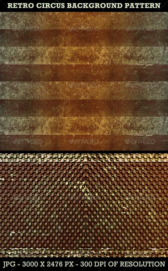 Retro Circus Background Pattern