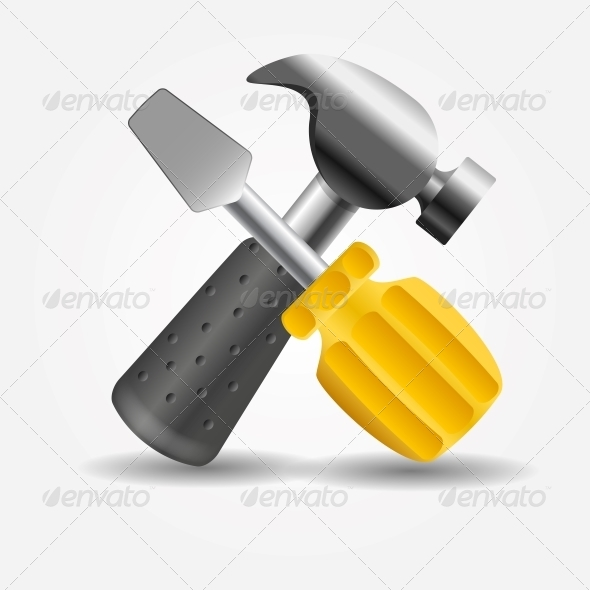 GraphicRiver Screwdriver and Hammer Icon Vector Illustration 5075672