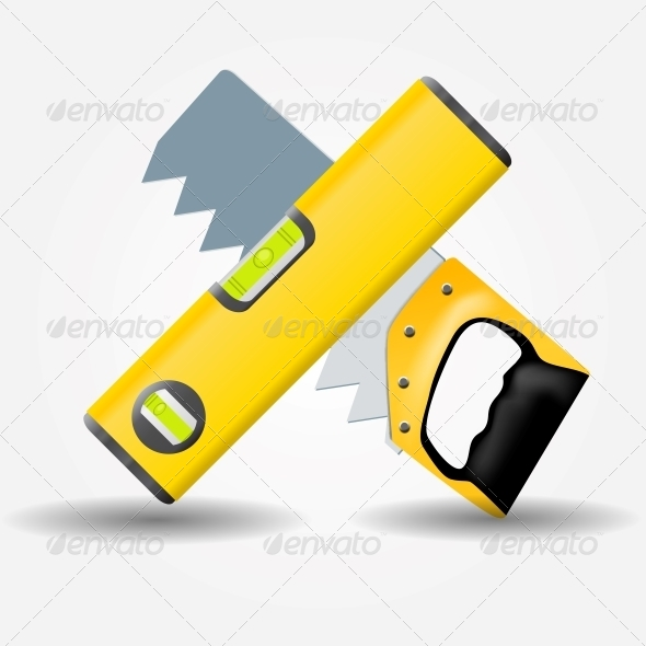GraphicRiver Level and Saw Icon Vector Illustration 5075679