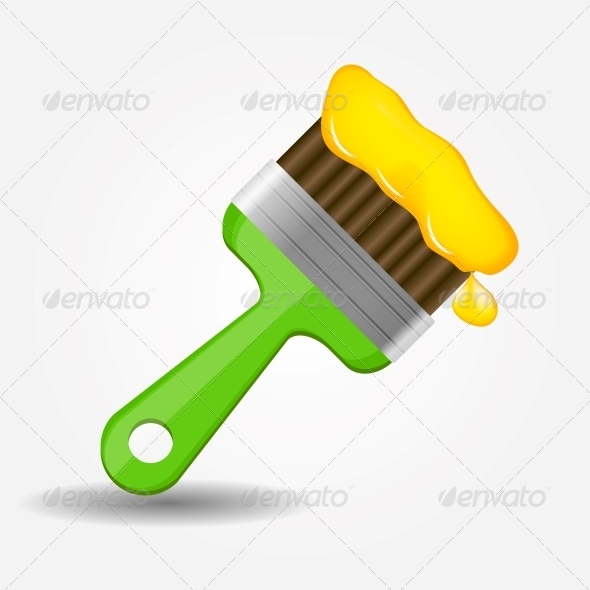 GraphicRiver Paint Brush Icon Vector Illustration 5075686