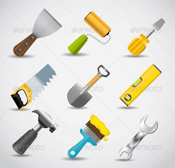 GraphicRiver Different Tools Icon Set 5075697