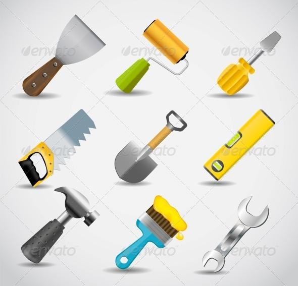 GraphicRiver Different Tools Icon Set 5075697