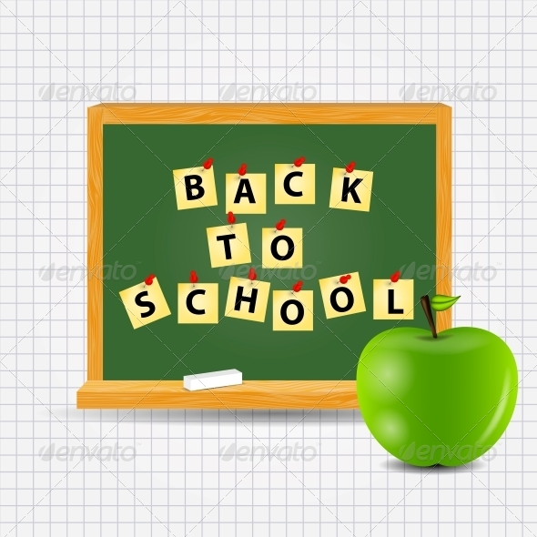 GraphicRiver Back to School Vector Background 5075709