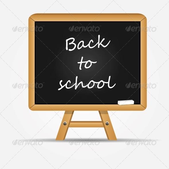 GraphicRiver School Board Icon Vector Illustration 5075710