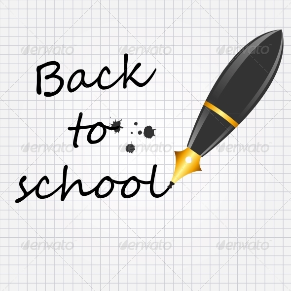 GraphicRiver Back to School Vector Background 5075713