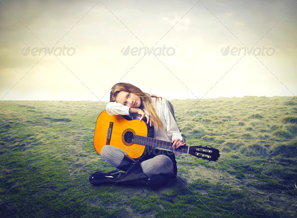 young musician - Stock Photo - Images