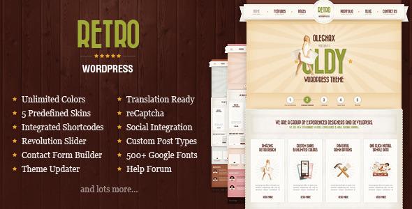 ThemeForest Retro Premium Vintage WordPress Theme 5075763