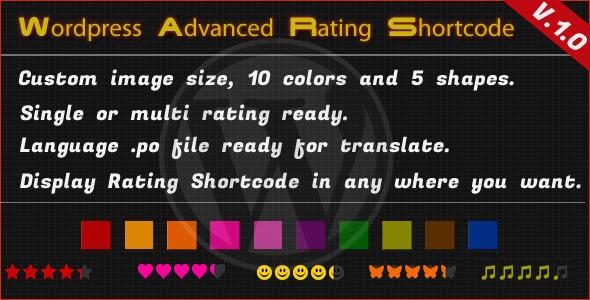 CodeCanyon Wordpress Advanced Rating Shortcode 5072131