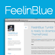 FeelinBlue - Clean Tumblr Blogging Theme