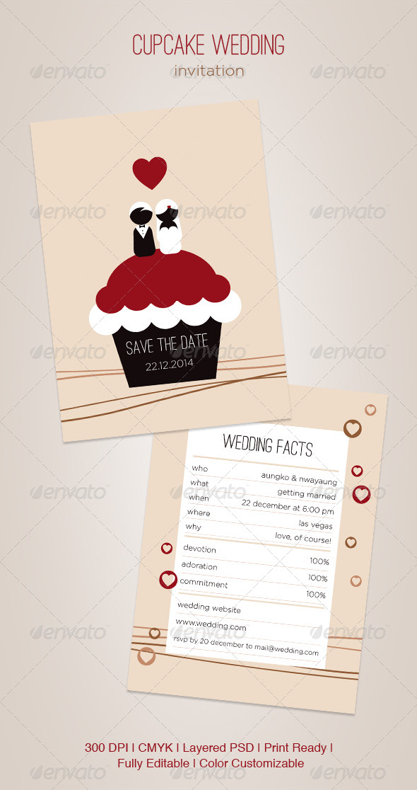 GraphicRiver Cupcake Wedding 5021972