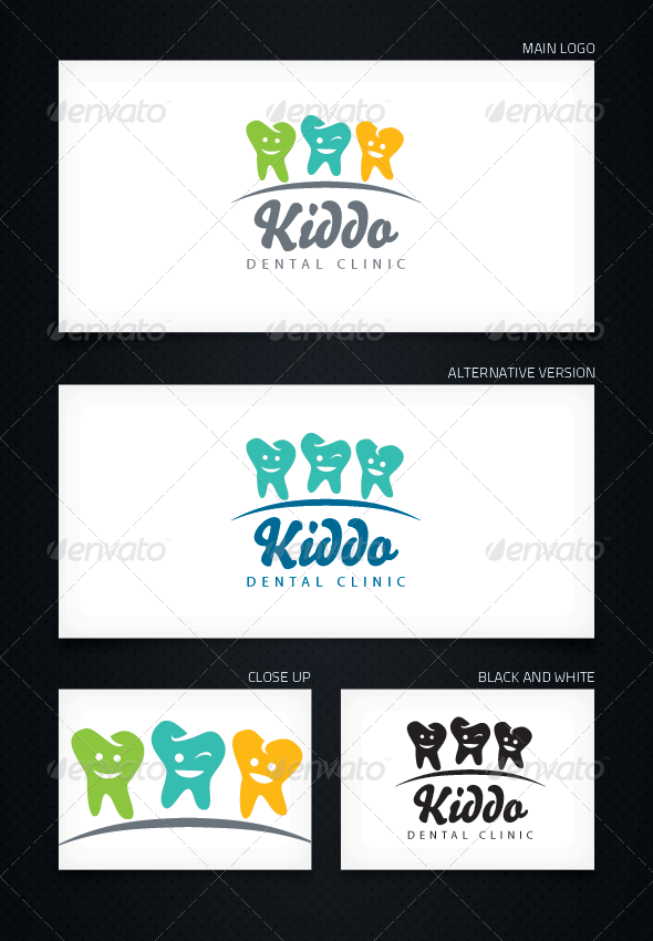 GraphicRiver Kiddo Dental Clinic Logo Template 5076195