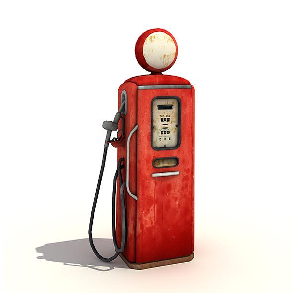 Vintage Gas Pump - 3DOcean Item for Sale